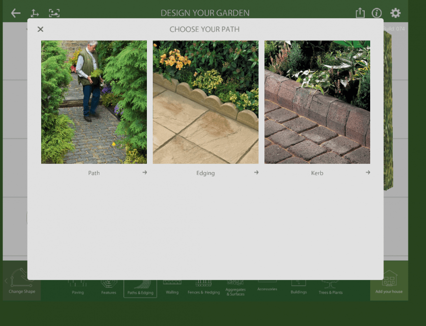 Marshalls Garden Visualiser path feature