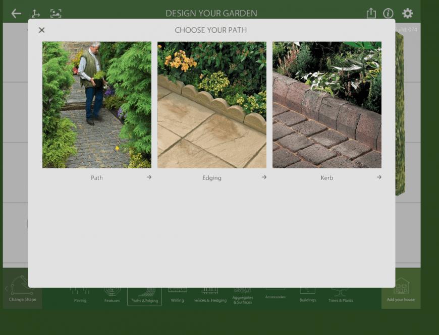 Marshalls Garden Visualiser path feature