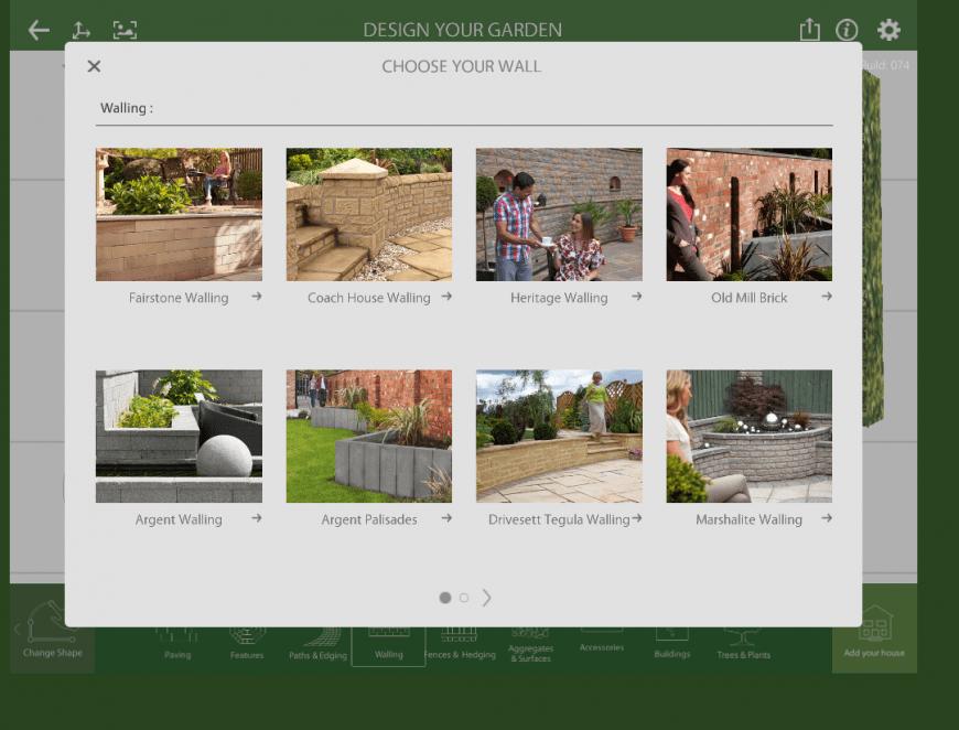 Marshalls Garden Visualiser wall feature