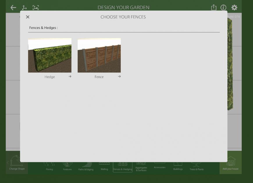 Marshalls Garden Visualiser fences feature