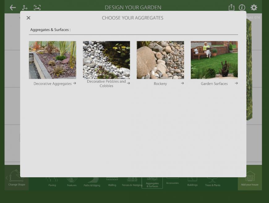 Marshalls Garden Visualiser aggregates feature