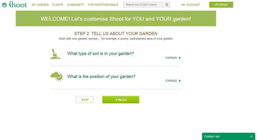Shoot Garden Planner about your garden feature