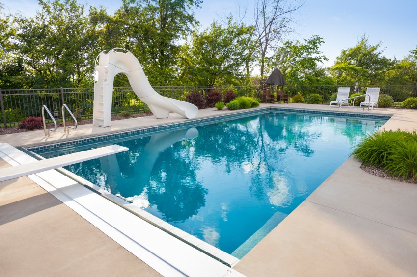 99 swimming pool designs and types 2018 pictures for Swimming pool slides