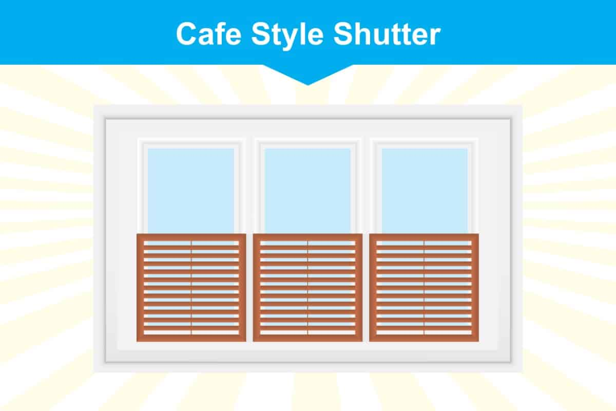 Cafe style window shutter illustration