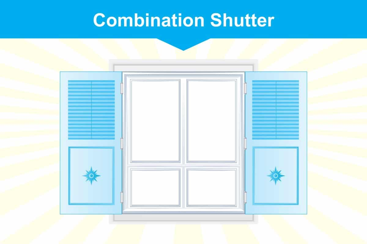 Combination window shutter illustration