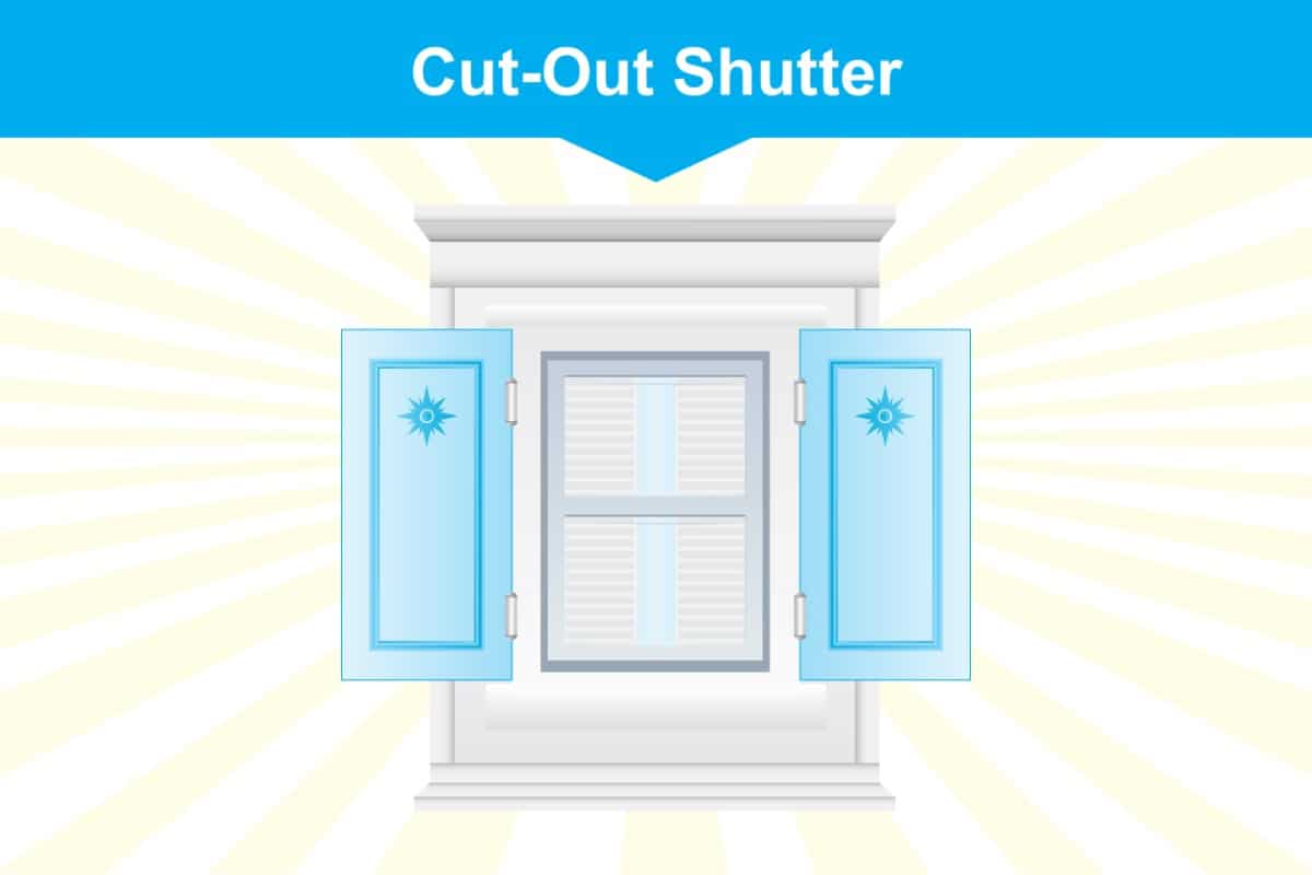 Cut Out Window Shutter Illustration