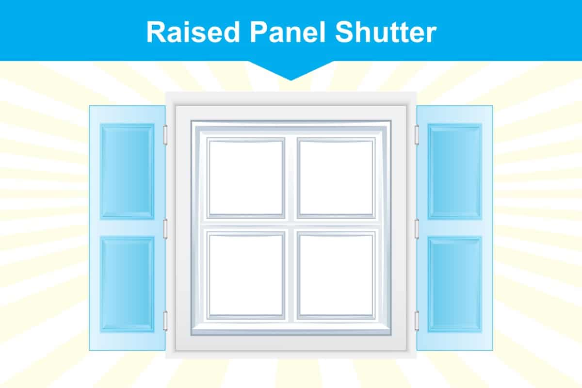Raised panel window shutter illustration