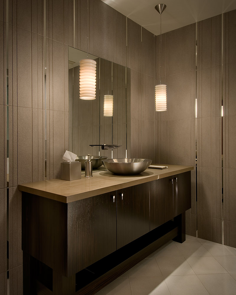 55 Bathrooms With Pendant Lights Photos