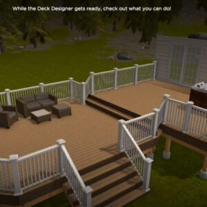 Example of deck design software.