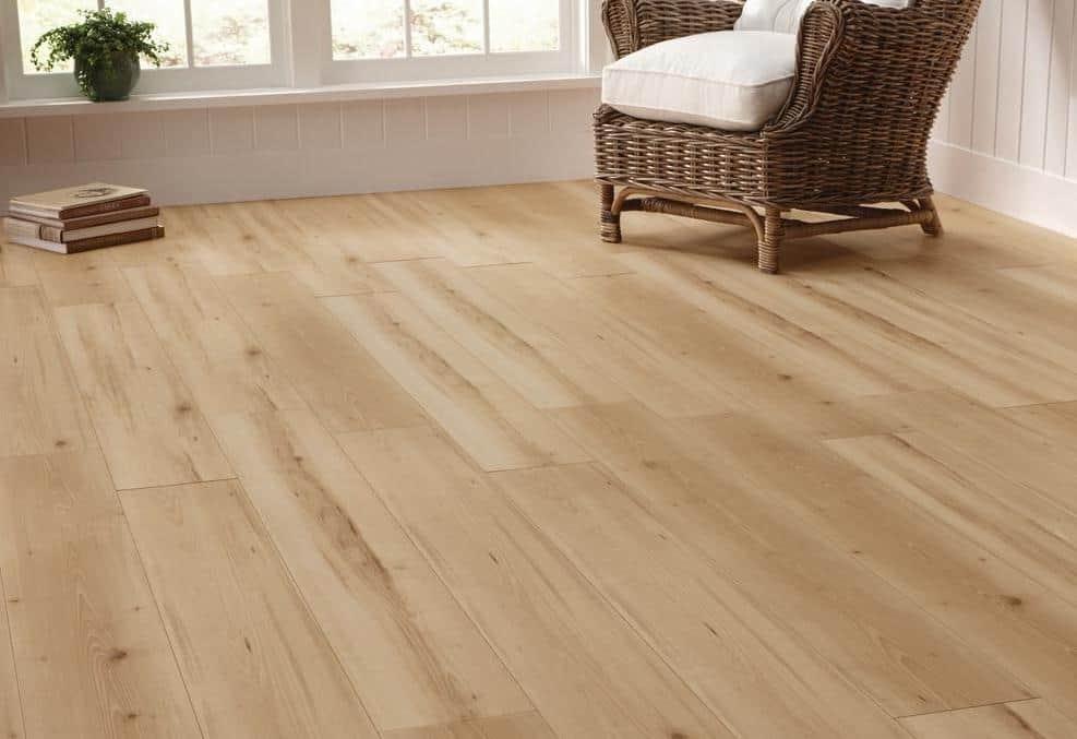 Beech style laminate floor