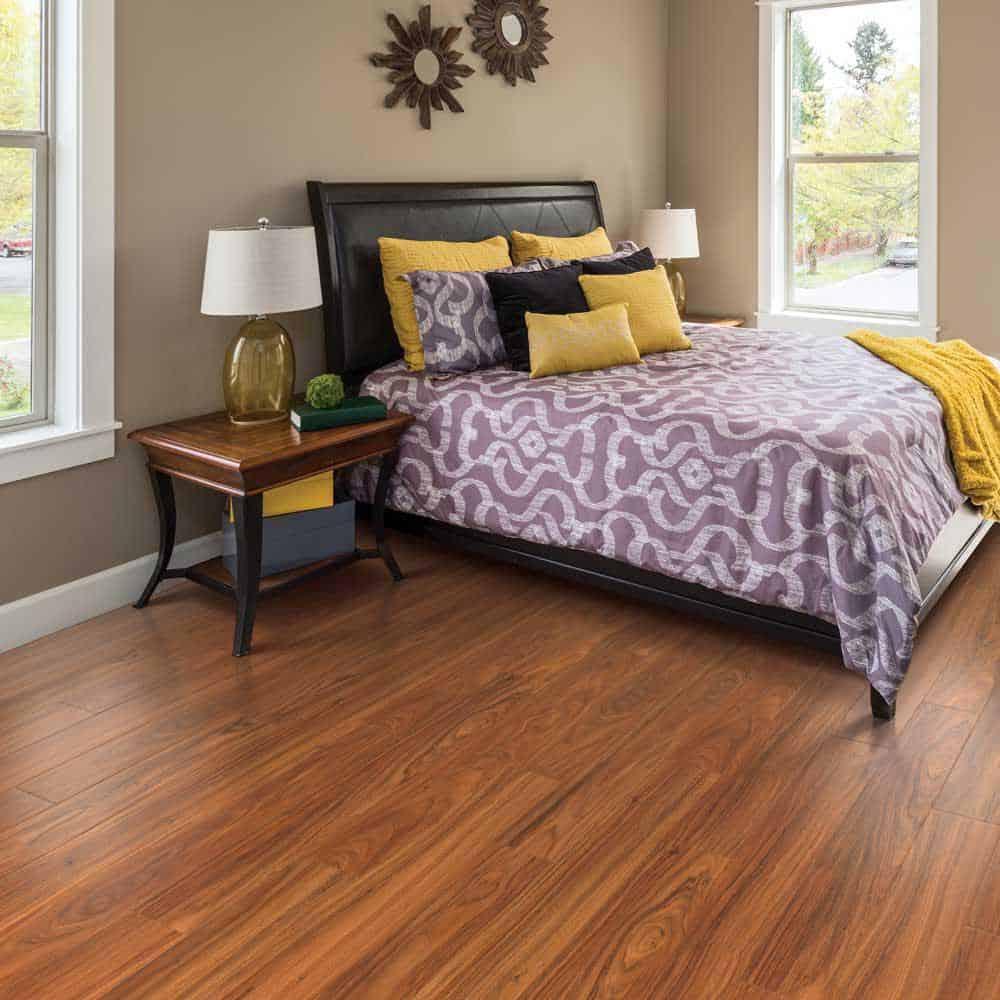 Brazilian cherry laminate floor example