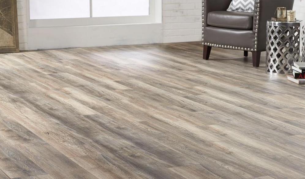 Brown laminate floor color example