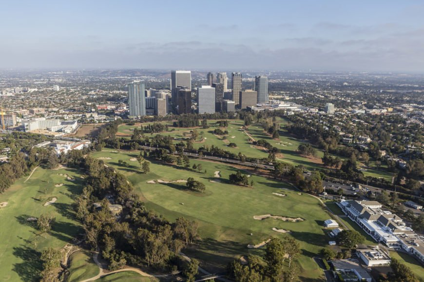 Aerial view of Century City in California