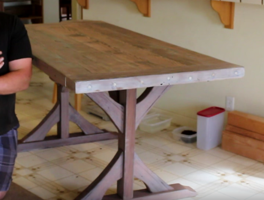 Etonnant If You Want To Get Away From The 4 Legs, Go For A DIY Trestle Table. Check  It Out:
