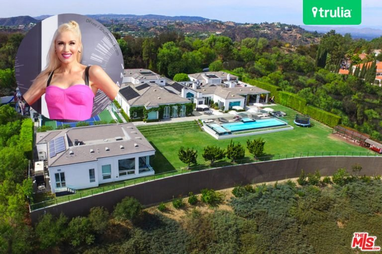 Aerial shot of Gwen Stefani's mansion