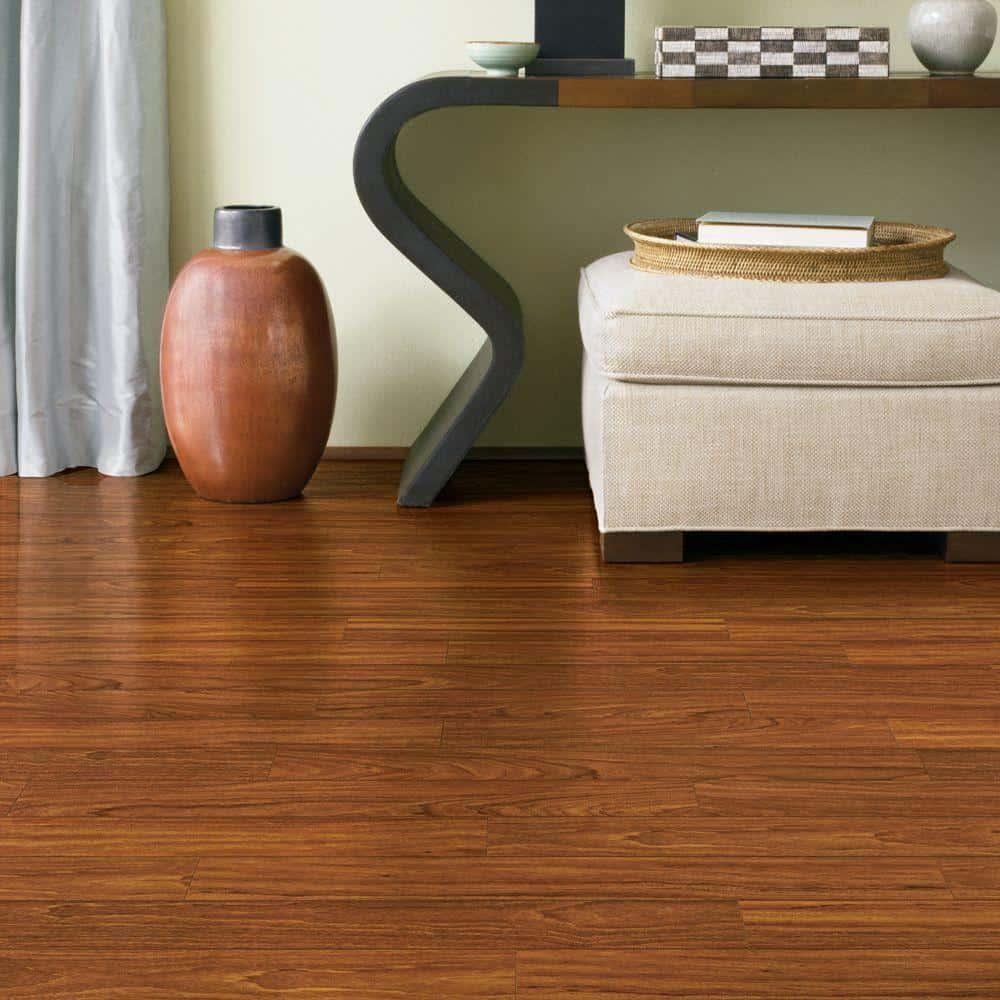 Mahogany style laminate floor