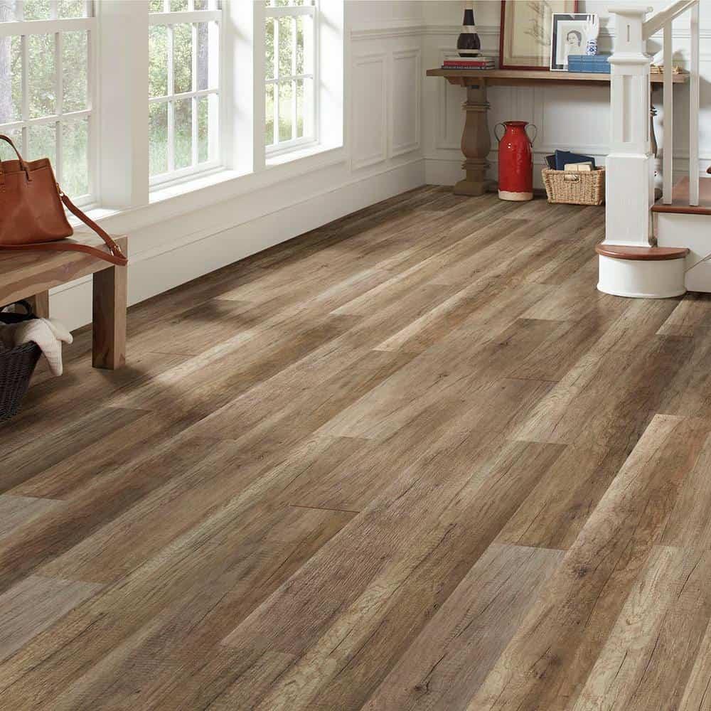 Medium shade laminate flooring example.
