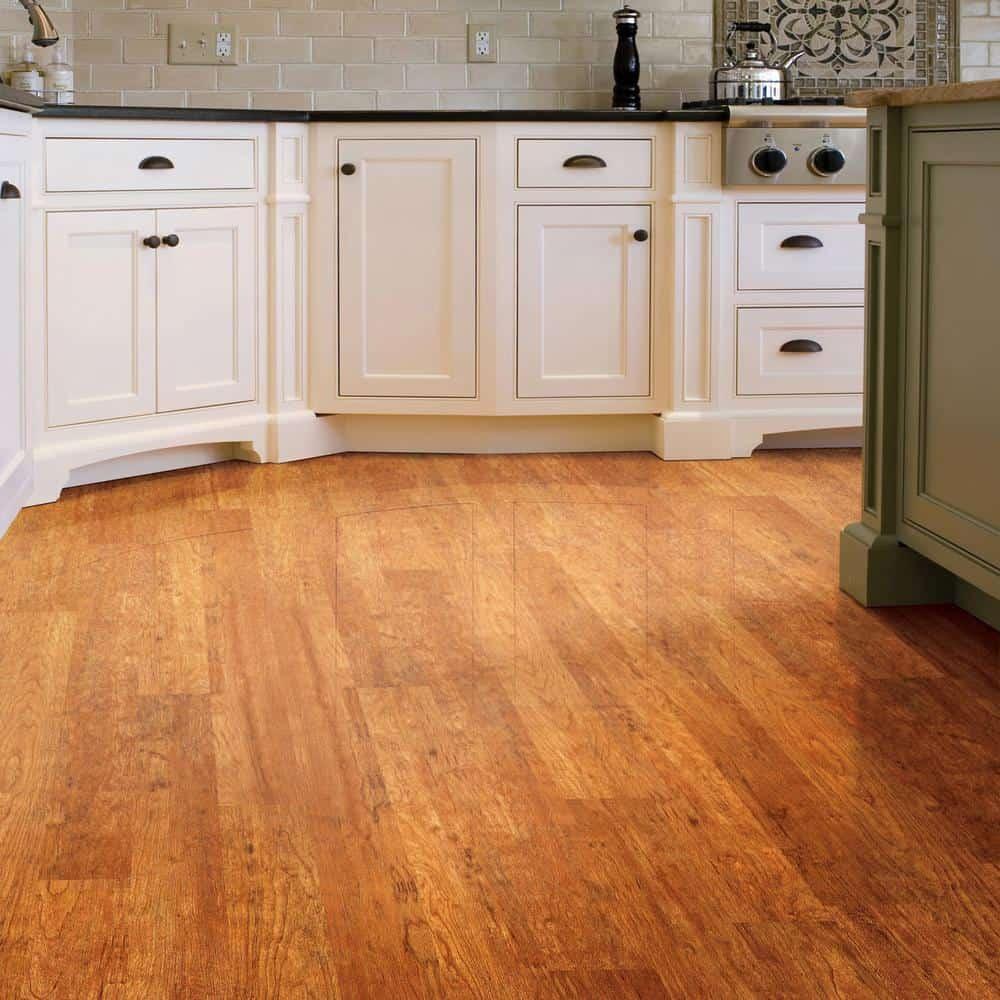 Orange color laminate flooring