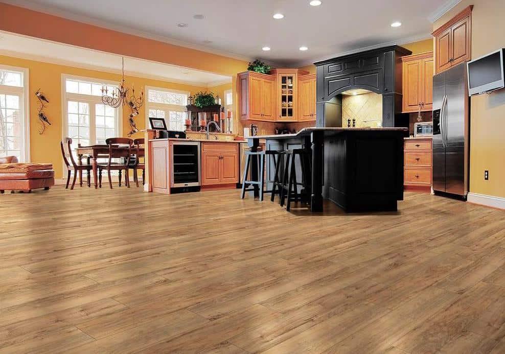 Pecan style laminate floor example