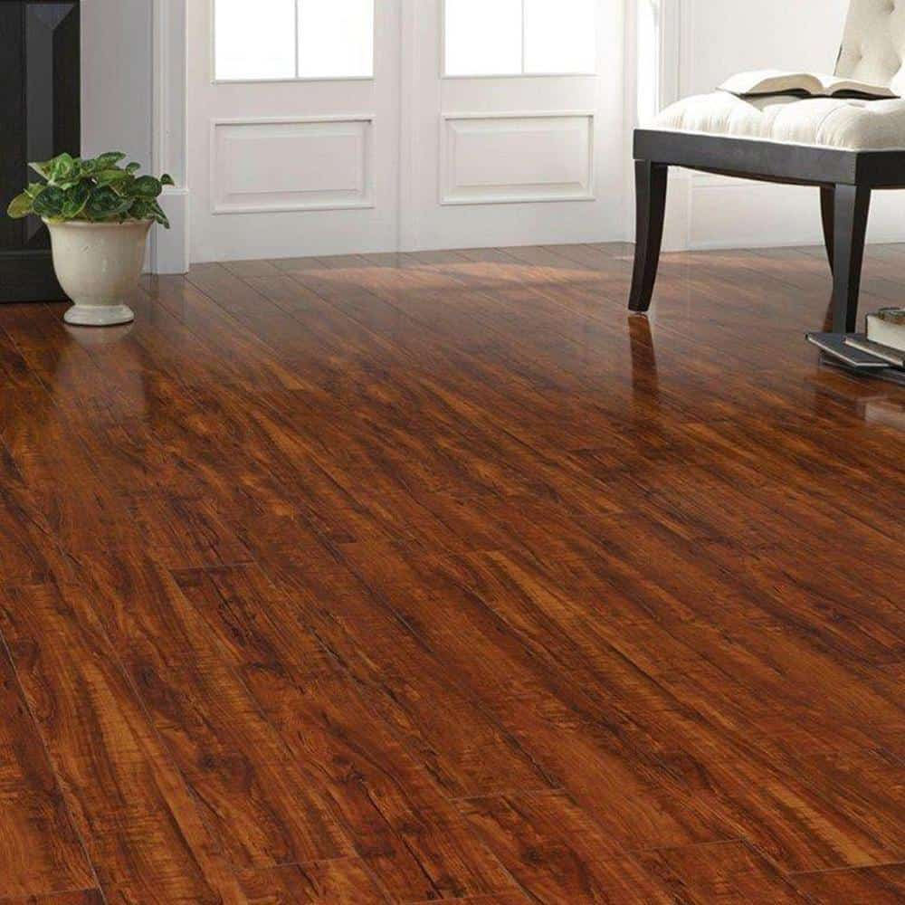 Red laminate floor color example