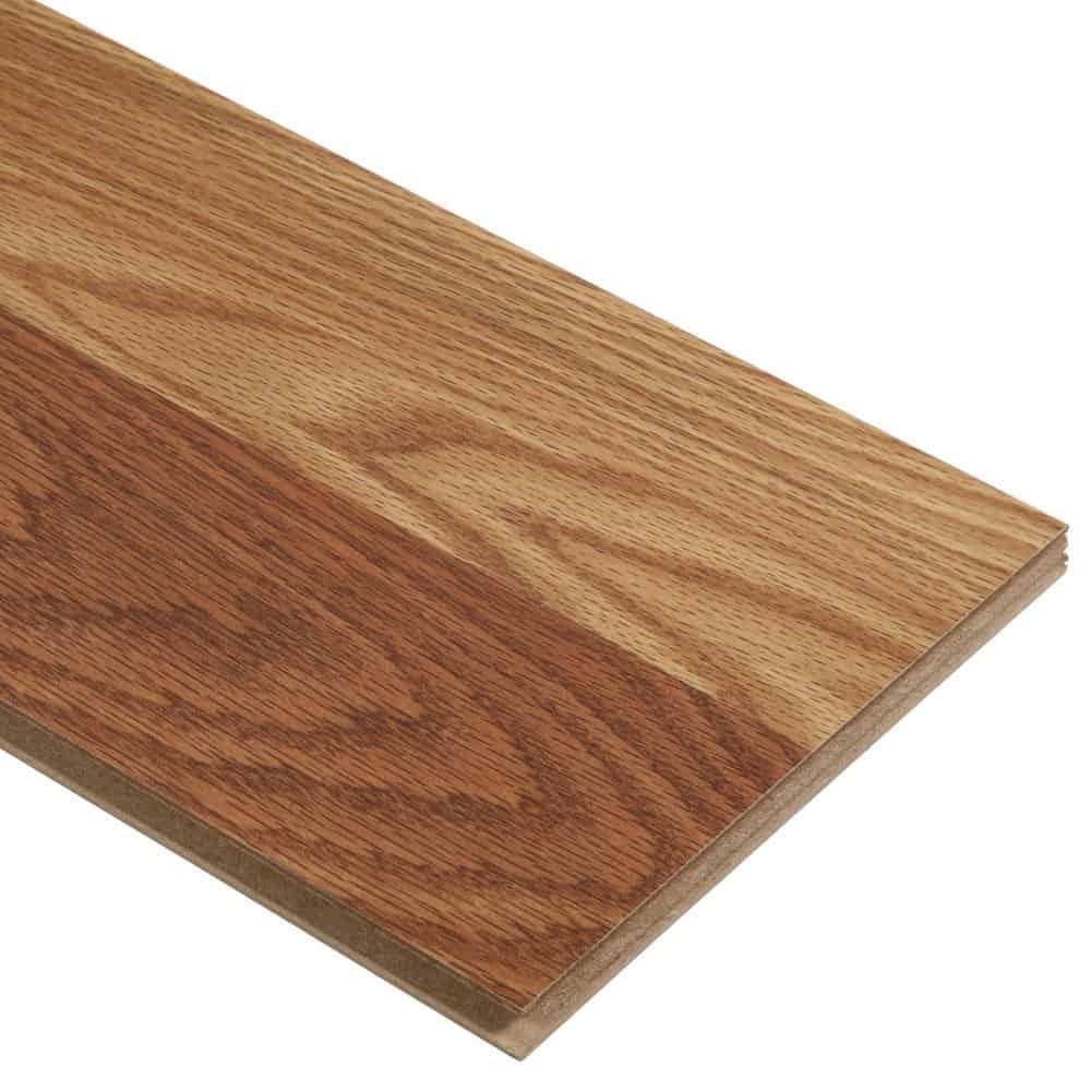 Square edge laminate floor plank
