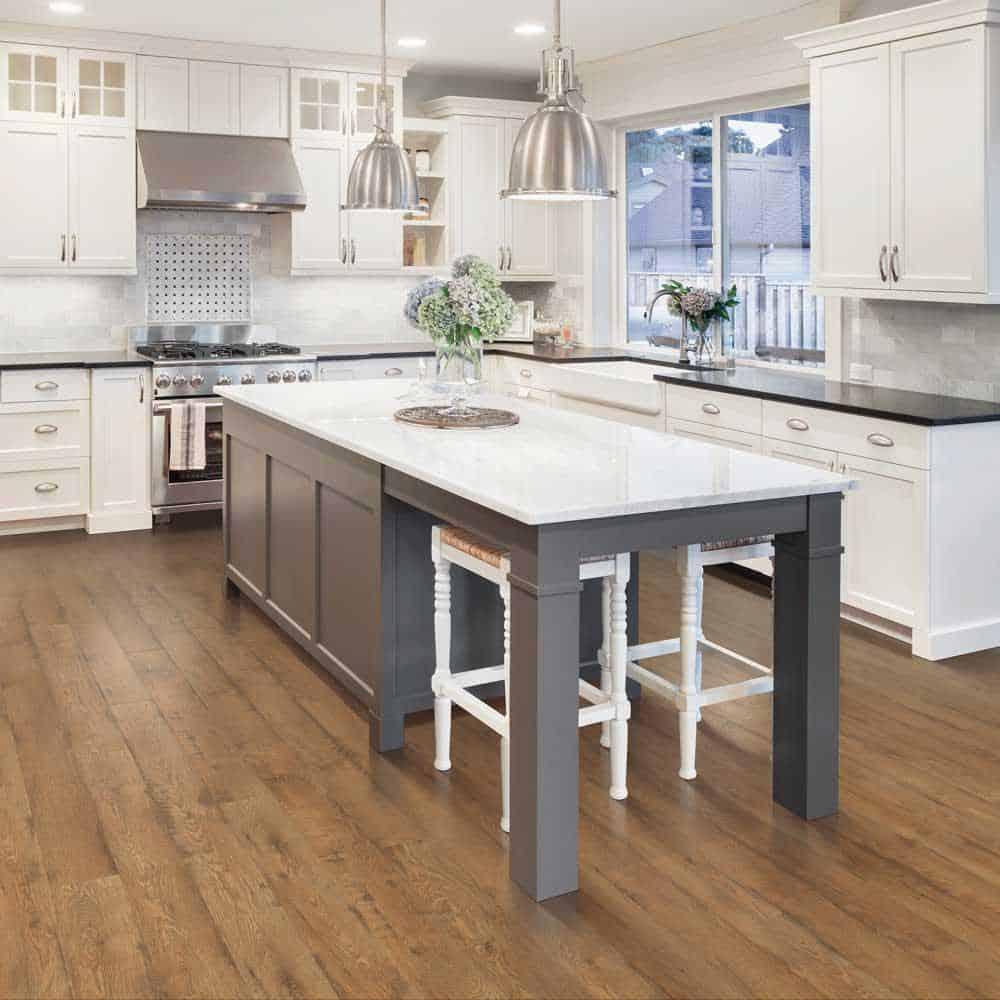 Tan laminate floor example