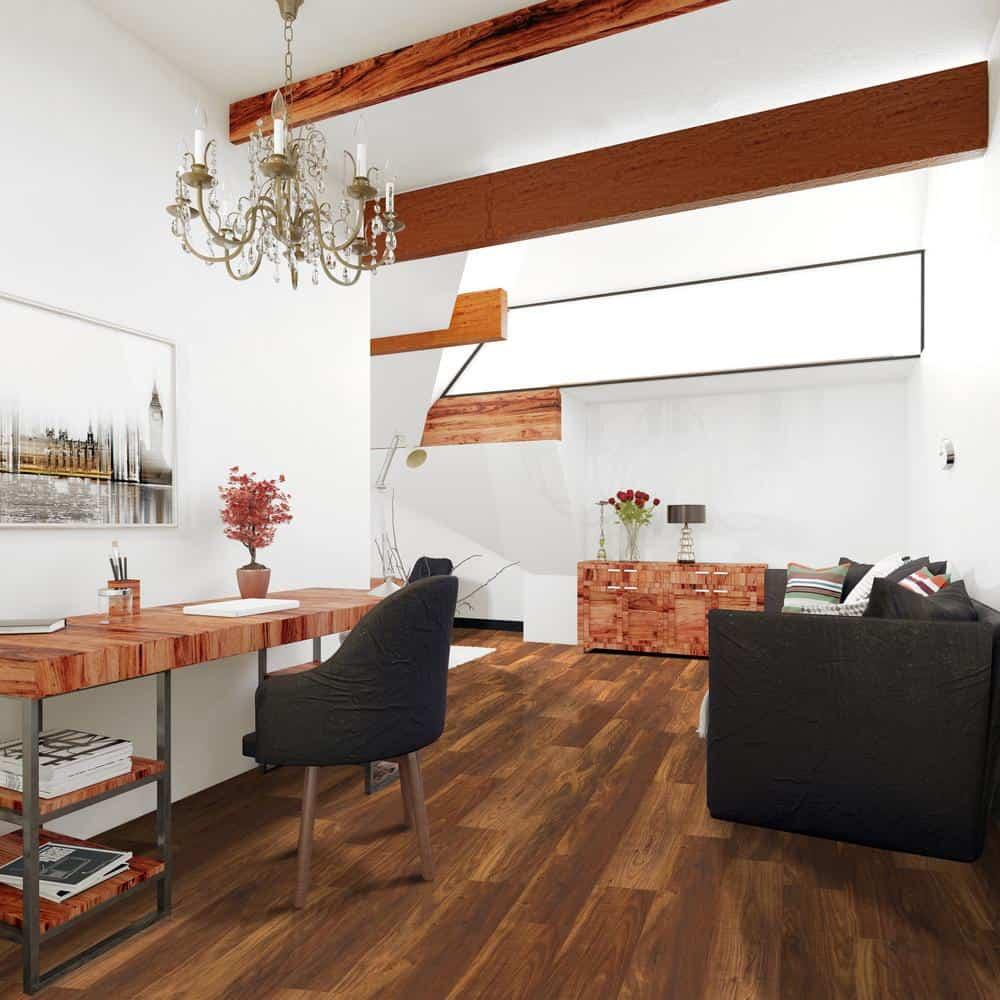 Teak style laminate floor