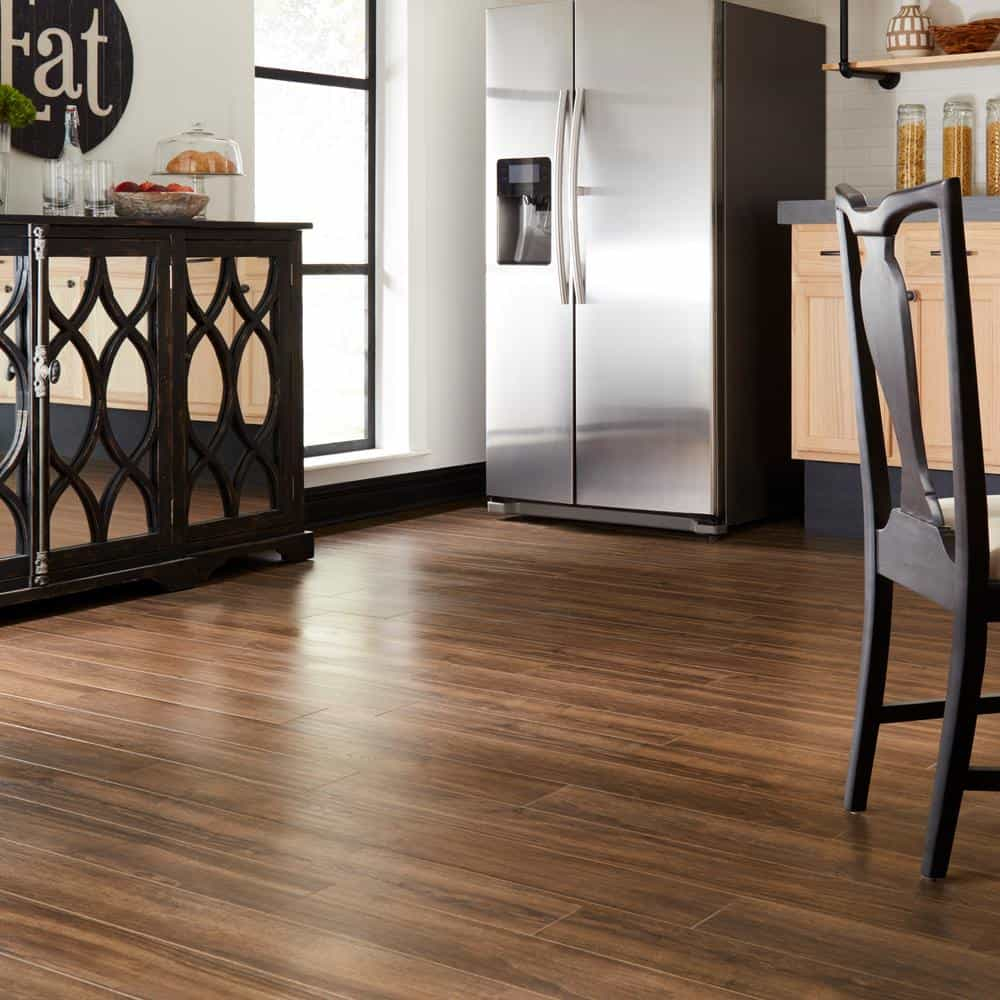 Walnut style laminate floor