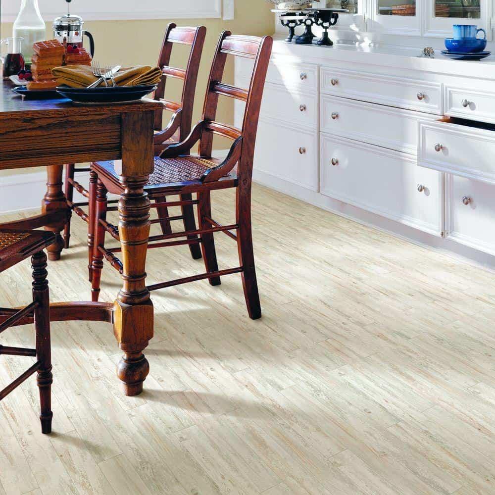 White laminate flooring color