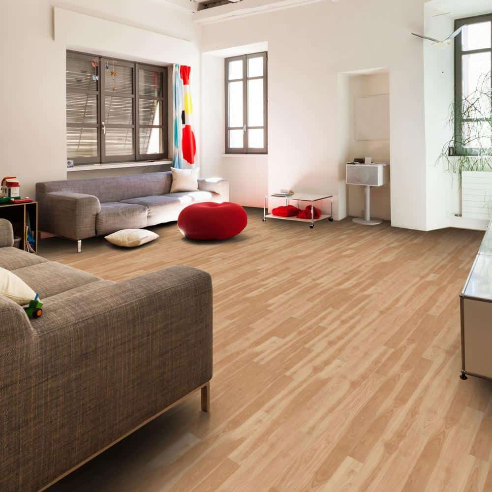 Yellow laminate flooring color example