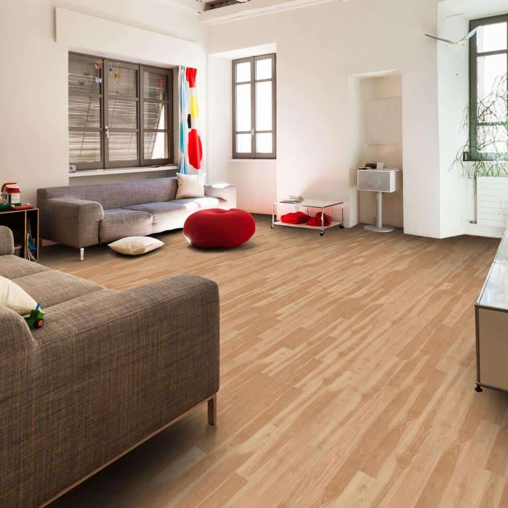 Yellow laminate flooring color example