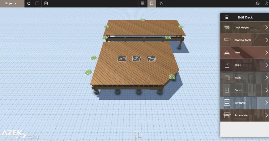 Aztek Deck Designer interface 2