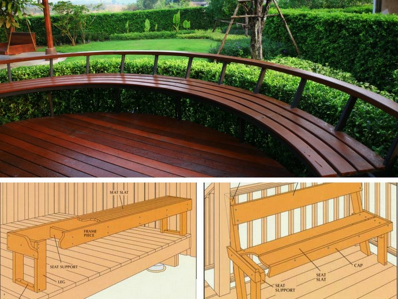 15 Types Of Built In Deck/Patio Seating Ideas (Photos)