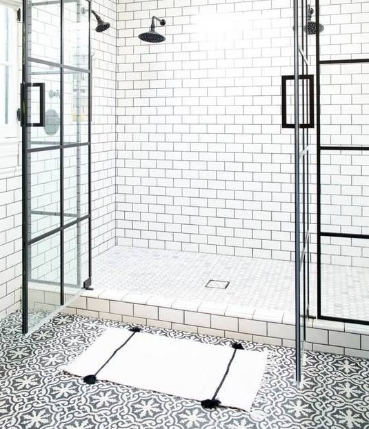 26 excellent cement tiles bathroom floor for Floor cement tiles