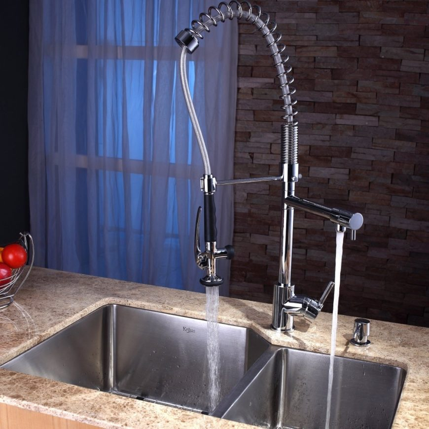 commercial style kitchen faucet image