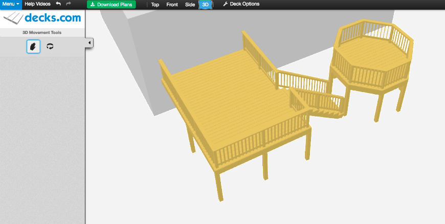 Decks.com Deck Designer interface 2
