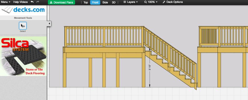 Decks.com Deck Designer interface 4