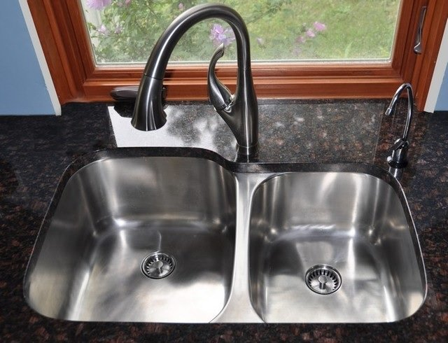 double bowl kitchen sink image