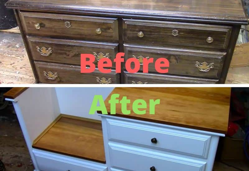 Old Junky Dressers In Need Of A Facelift Or Dramatic Overhaul Are Not Short Supply