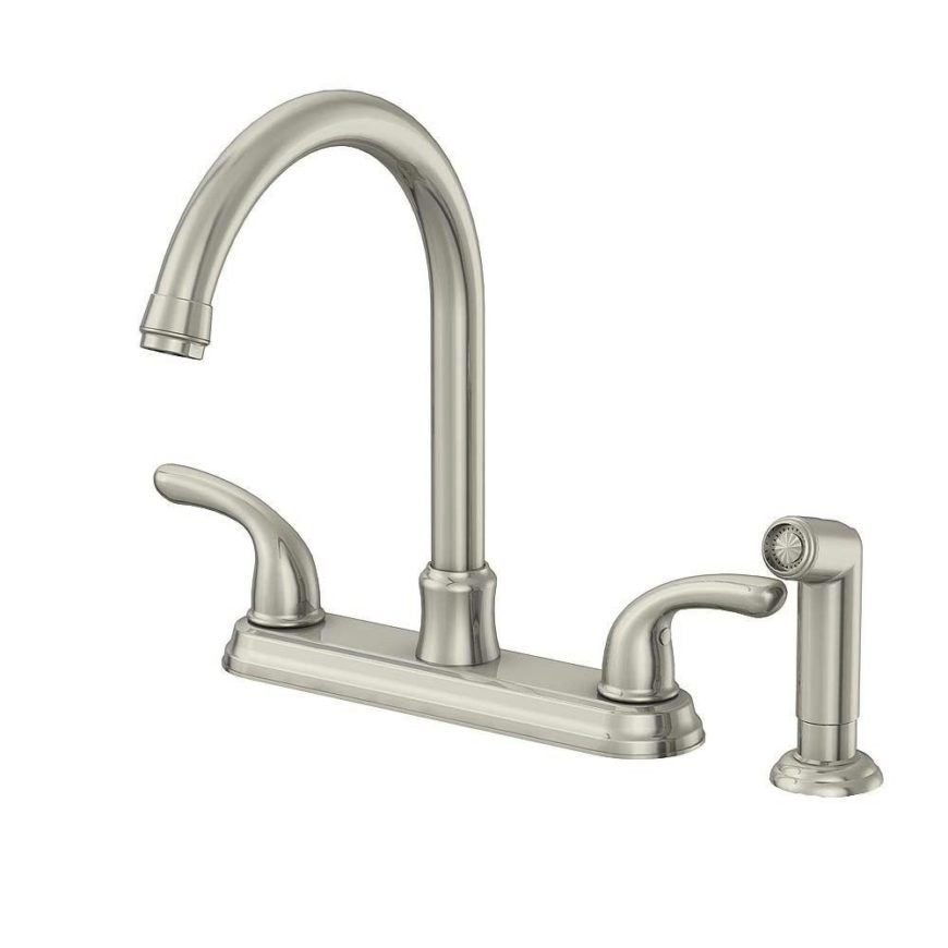 dual handle kitchen faucet image