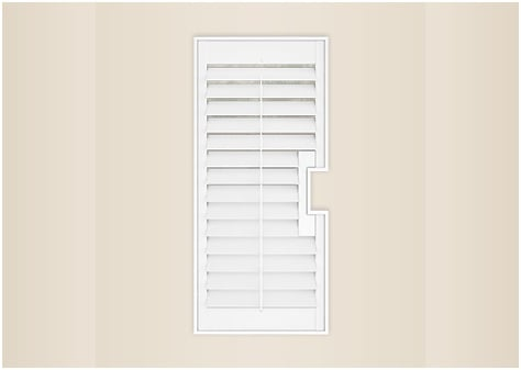 french door cuts window shutter image