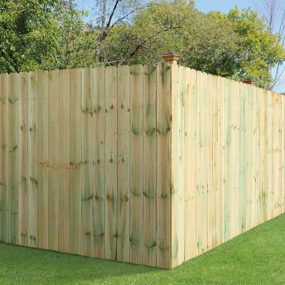 Dog Ear Treated Wood Fence Board