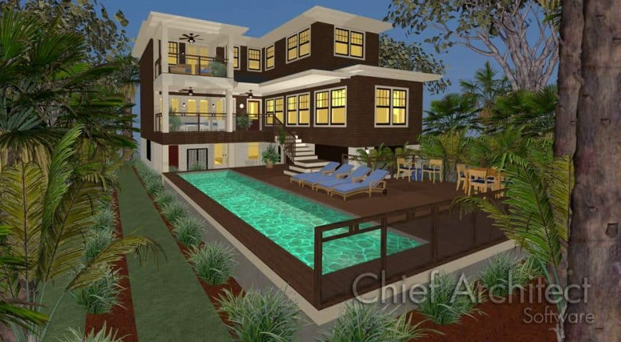 Home Designer Landscaping Software (Chief Architect) deck interface 1