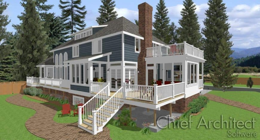 Home Designer Landscaping Software (Chief Architect) deck interface 2