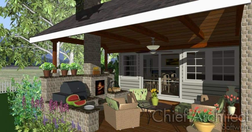 Home Designer Landscaping Software (Chief Architect) deck interface 3