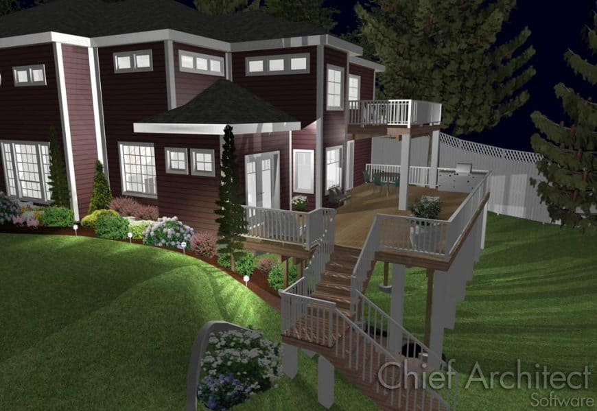 Home Designer Landscaping Software (Chief Architect) deck interface 4
