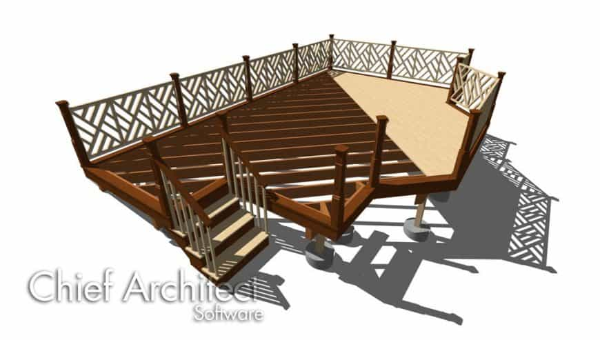 Home Designer Landscaping Software (Chief Architect) Deck Interface 5