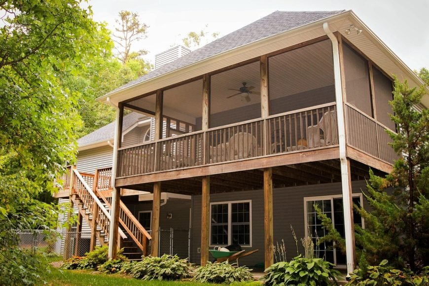 17 top decking styles materials and patterns for Second story deck cost