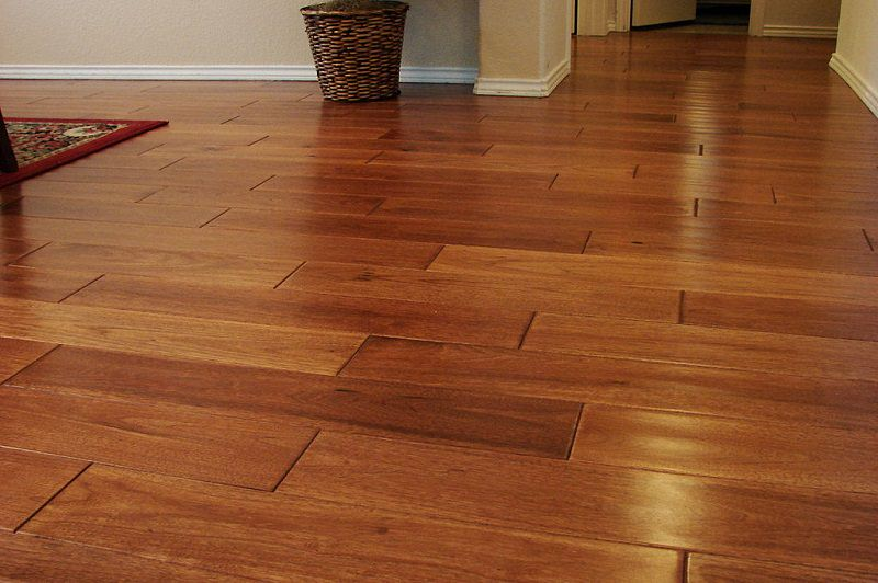 You Will Not Notice Its Difference With Solid Hardwood. After Years Of Use, Laminate  Wood Flooring Can Be Refinished To Bring Them Back To Their Former ...