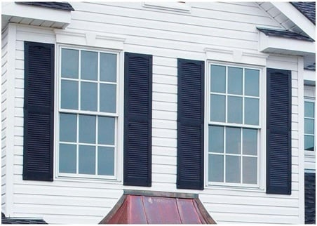 louvered window shutter image